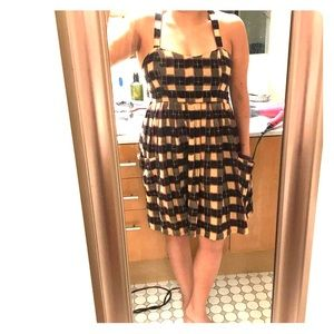 Topshop checkered sundress size 8/10 with pockets